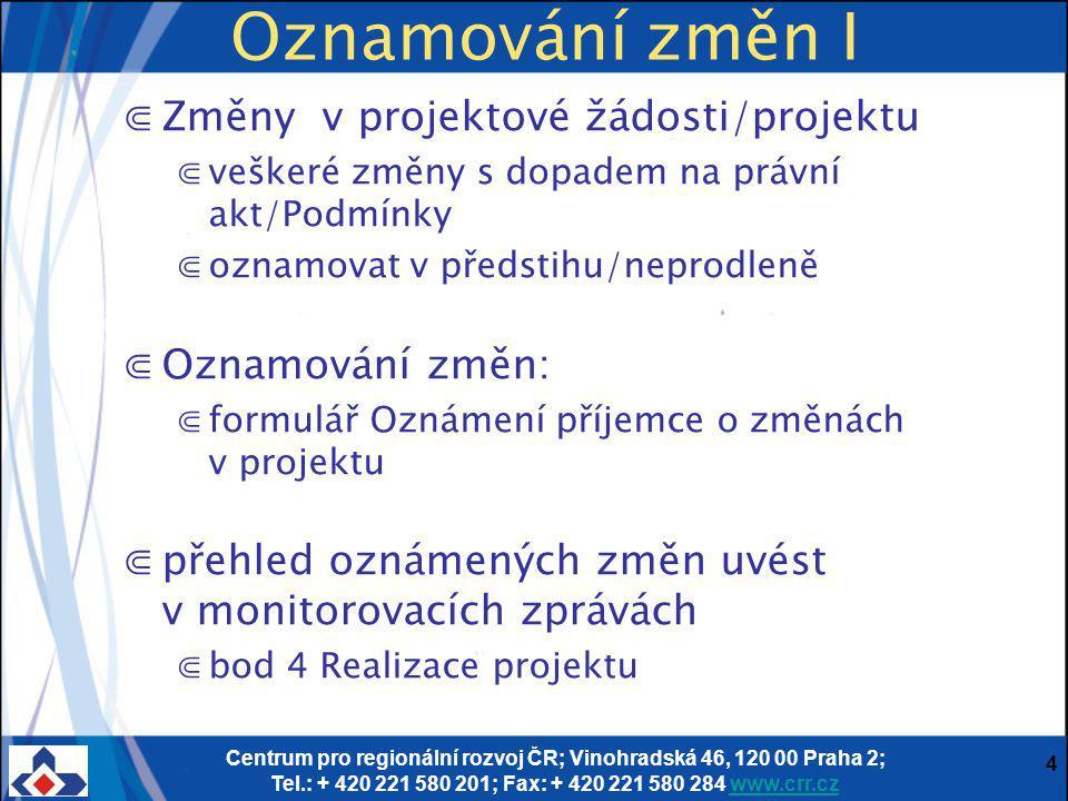 Centrum pro regionální rozvoj ČR; Vinohradská 46, 120 00 Praha 2; Tel.: + 420 221 580 201; Fax: + 420 221 580 284 www.crr.czwww.crr.cz 5 Příloha č.