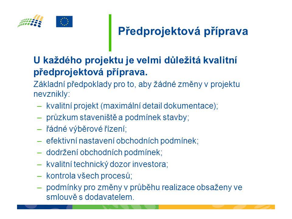 Předprojektová příprava U každého projektu je velmi důležitá kvalitní předprojektová příprava.