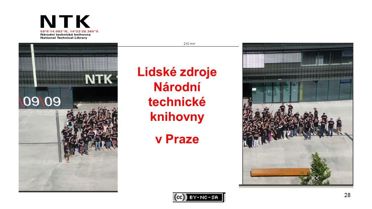 28 210 mm Lidské zdroje Národní technické knihovny v Praze