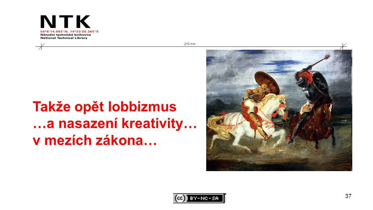 37 210 mm Takže opět lobbizmus …a nasazení kreativity… v mezích zákona…