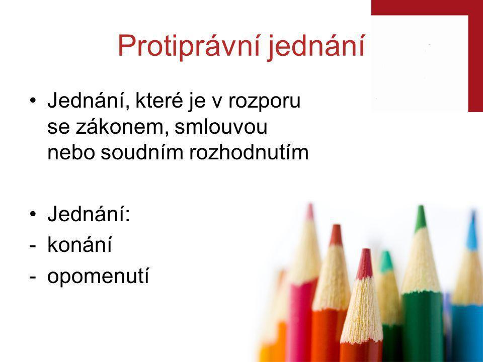 Občanský zákoník: vznik určité újmy (např.