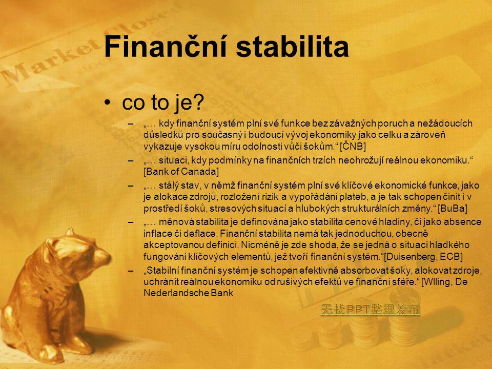 Finanční stabilita co to je.