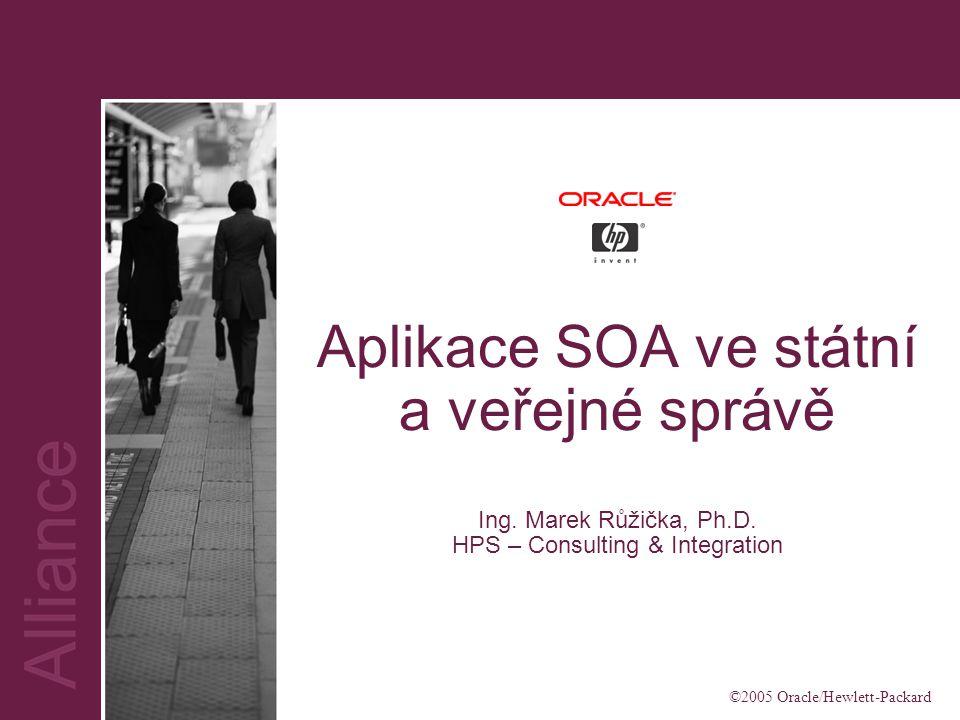 ©2005 Oracle/Hewlett-Packard Aplikace SOA ve státní a veřejné správě Ing.