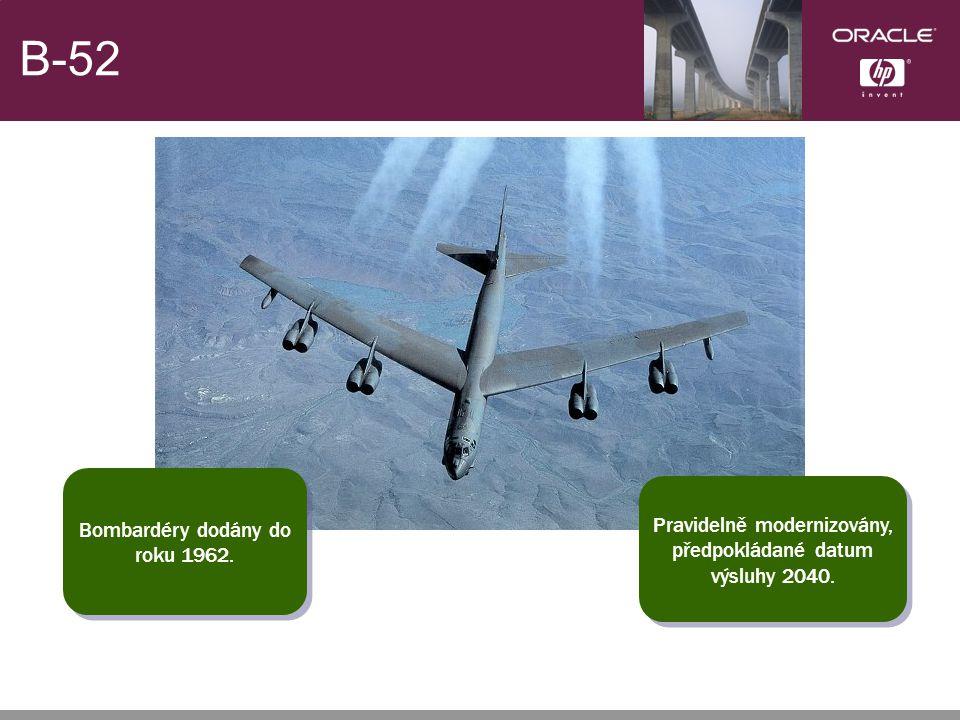 B-52 Bombardéry dodány do roku 1962. Bombardéry dodány do roku 1962.