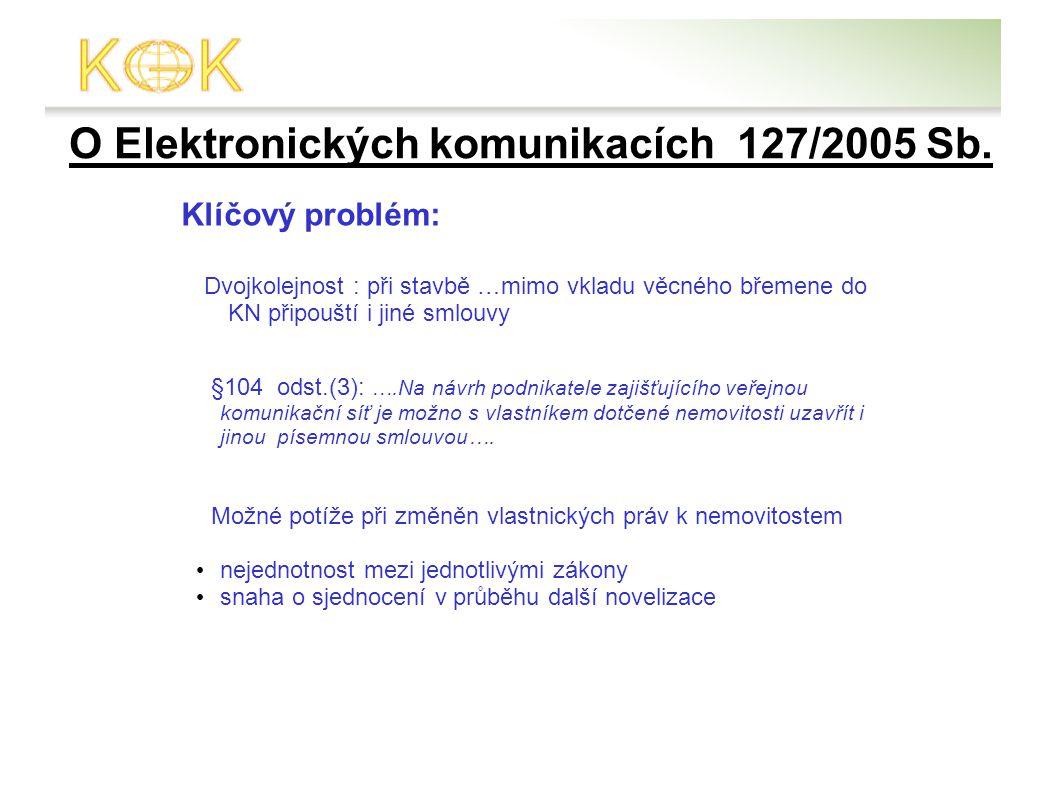 O Elektronických komunikacích 127/2005 Sb.