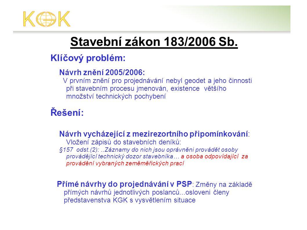 Stavební zákon 183/2006 Sb.