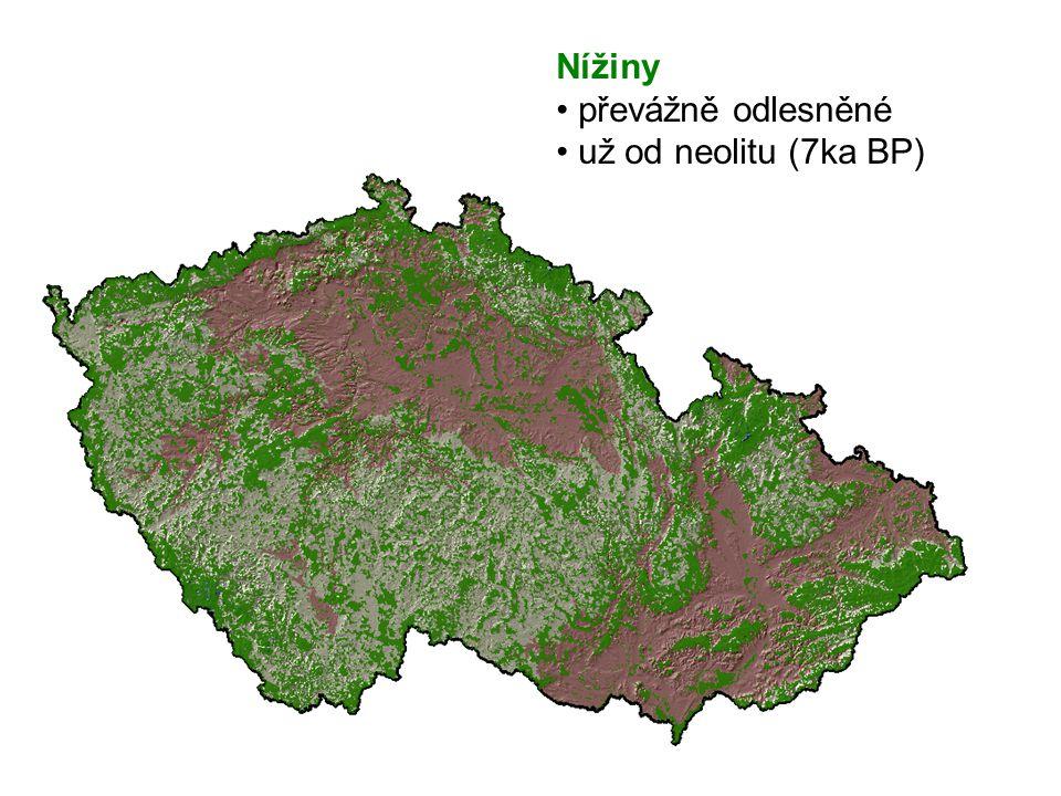 Nížiny převážně odlesněné už od neolitu (7ka BP)