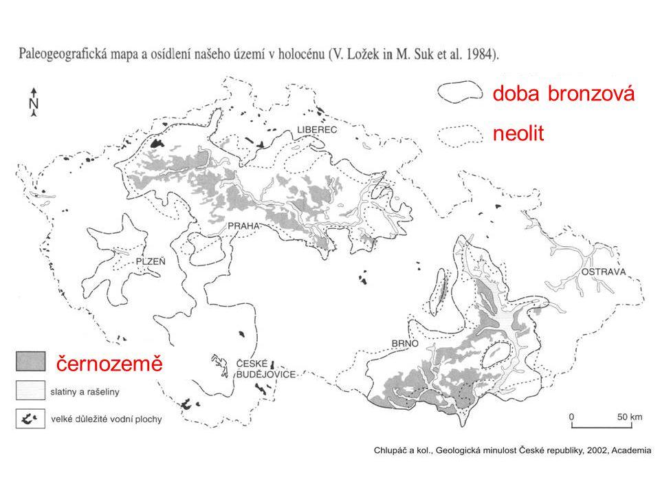 doba bronzová neolit černozemě