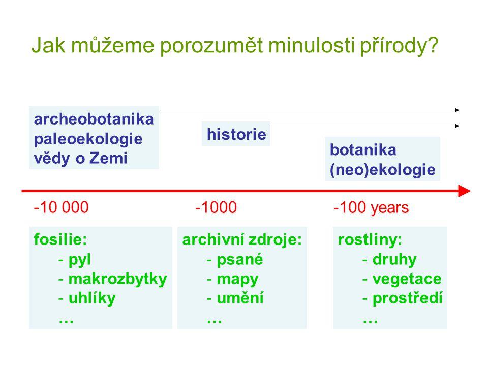 Částečně zalesněné území ve středních Čechách, dlouhodobý intenzivní vliv člověka – v lese hlavně pařezení Během 20.
