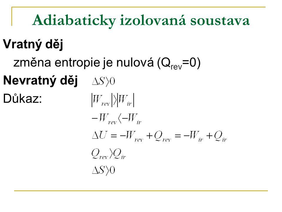 Obecné podmínky termodynamické rovnováhy Předpokládáme: p, T = konst.