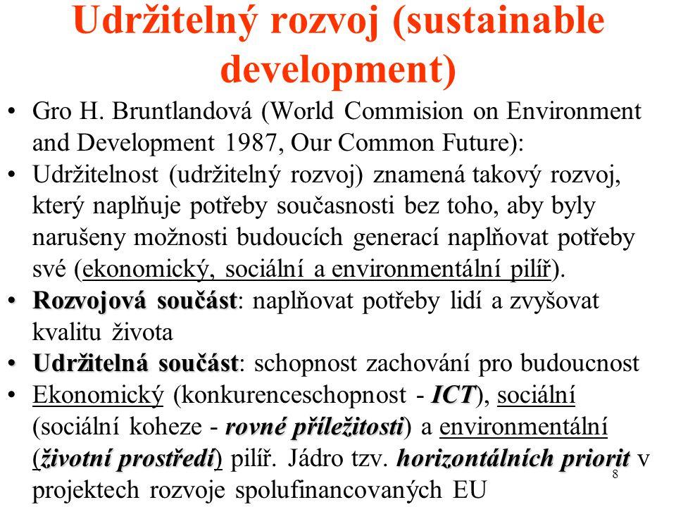 8 Udržitelný rozvoj (sustainable development) Gro H.