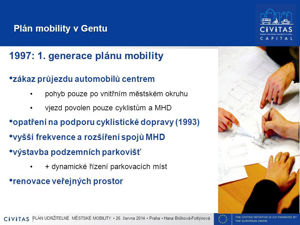 Plán mobility v Gentu Plán mobility v Gentu 1997: 1.