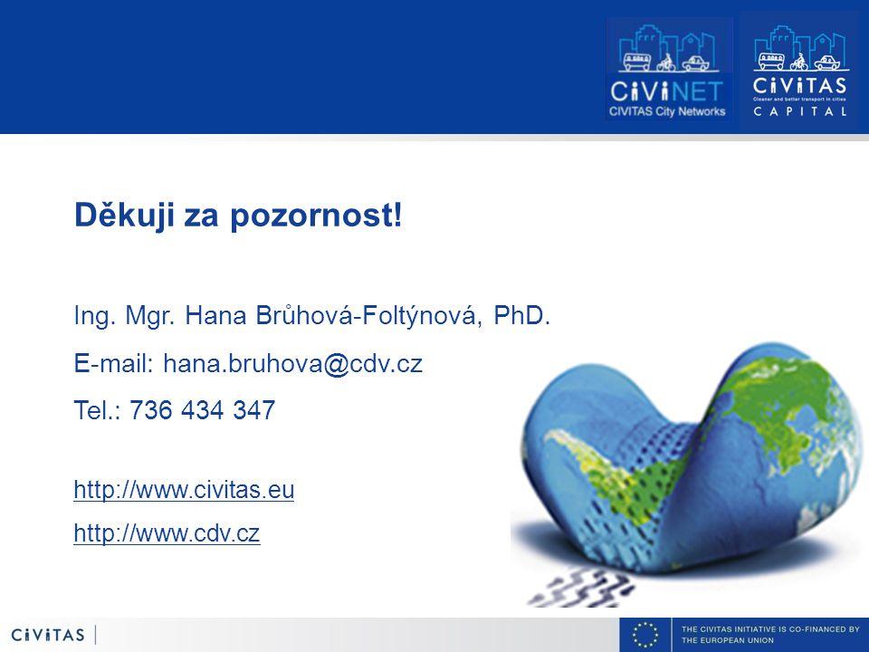 Děkuji za pozornost. Ing. Mgr. Hana Brůhová-Foltýnová, PhD.