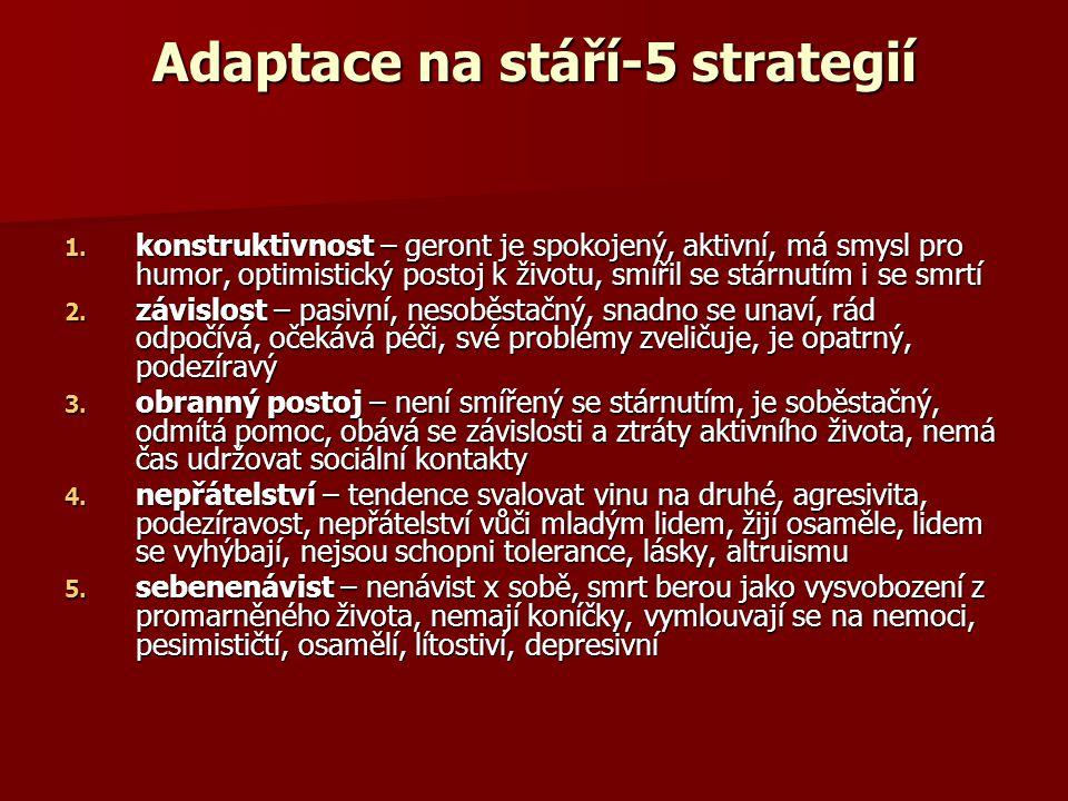 Adaptace na stáří-5 strategií 1.