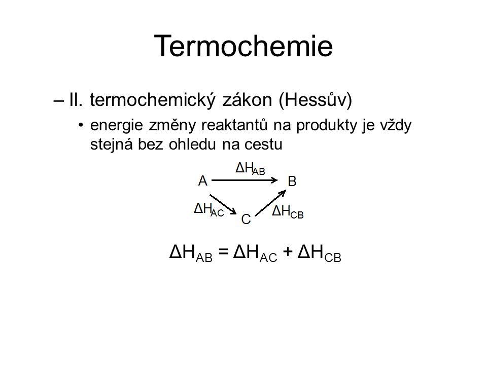 Termochemie –II.