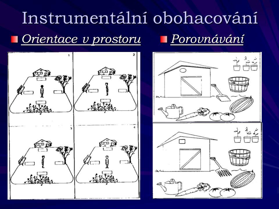 Instrumentální obohacování Orientace v prostoru Porovnávání