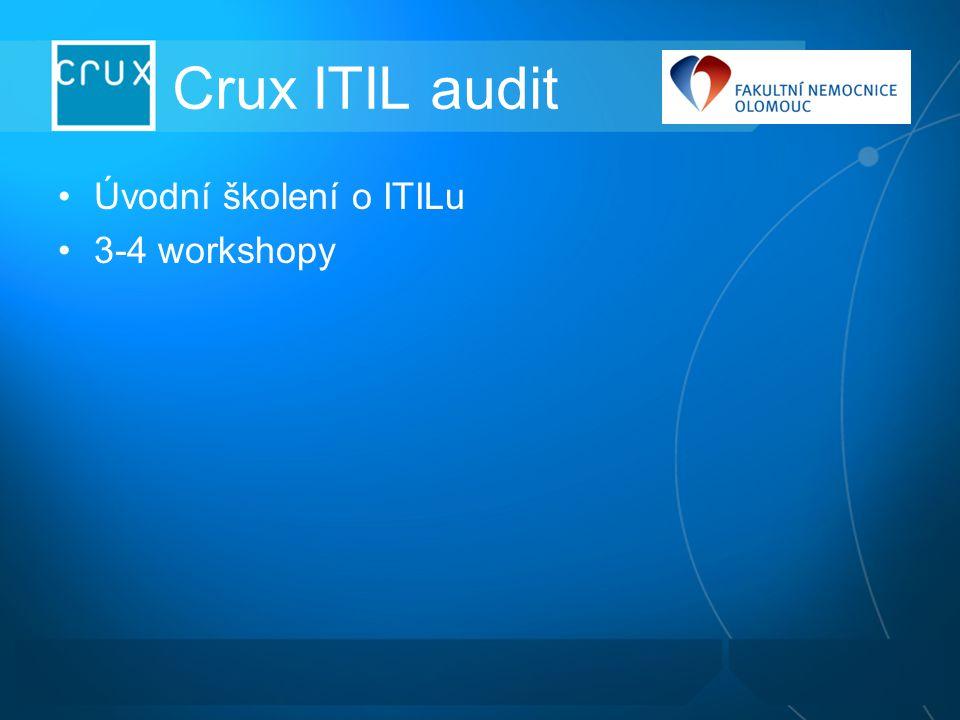Crux ITIL audit Úvodní školení o ITILu 3-4 workshopy