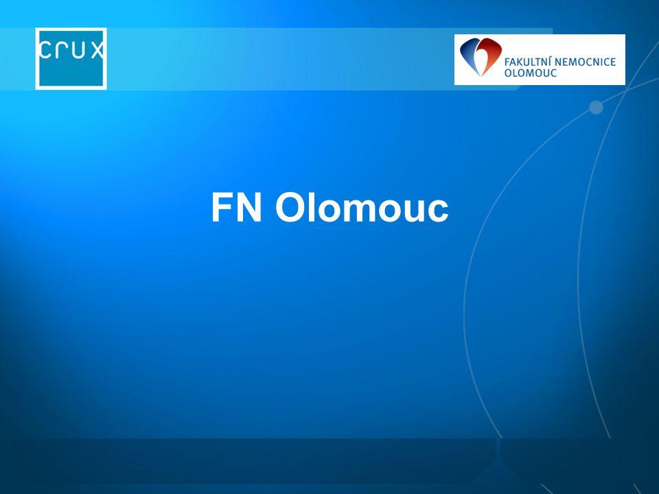 Stav ICT ve FN Olomouc úroveň ICT odpovídající současným trendům technologicky významné projekty PACS, datové sítě (infrastruktura), Klinický informační systém (klientské stanice) v letech 2004 - 2008 od roku 2004 nová strategie budování ICT – spolupráce se systémovým integrátorem rozpočet IT oddělení cca 35+30 mil.