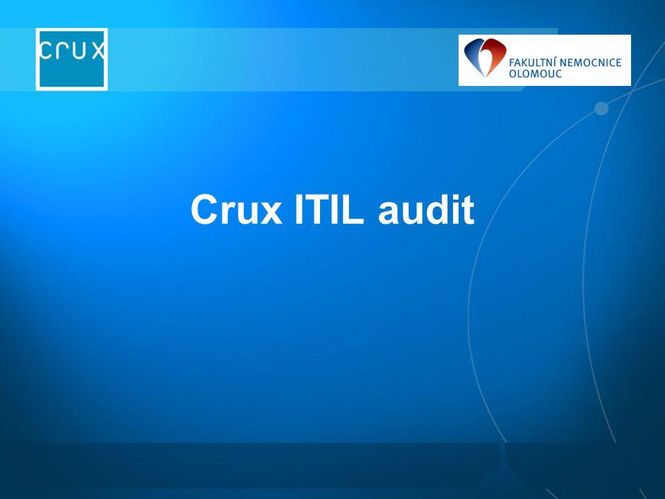 """Účel auditu Seznámit se s prostředím zákazníka a srovnat ho s """"ideálním stavem Zaznamenat výchozí stav pro návrh změn Obeznámit s principy ITIL Stanovit si cíl a postupné kroky k cíli"""