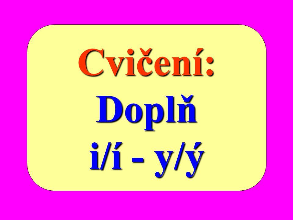 Z pravopisného hlediska rozlišujeme souhlásky: měkké ž žž ž,š,č,ř,c,j,ď,ť,ň, i/í tvrdé h,ch,k,r,d,t,n, y/ý obojetné b,f,l,m,p,s,v,z, i/í-y/ý