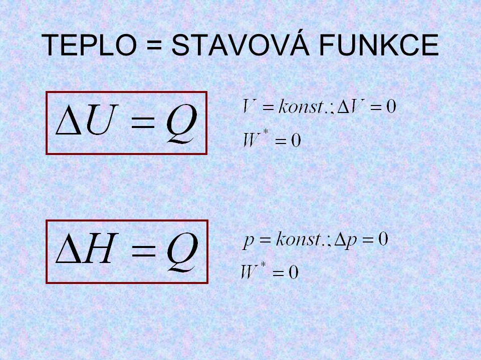 TEPLO = STAVOVÁ FUNKCE