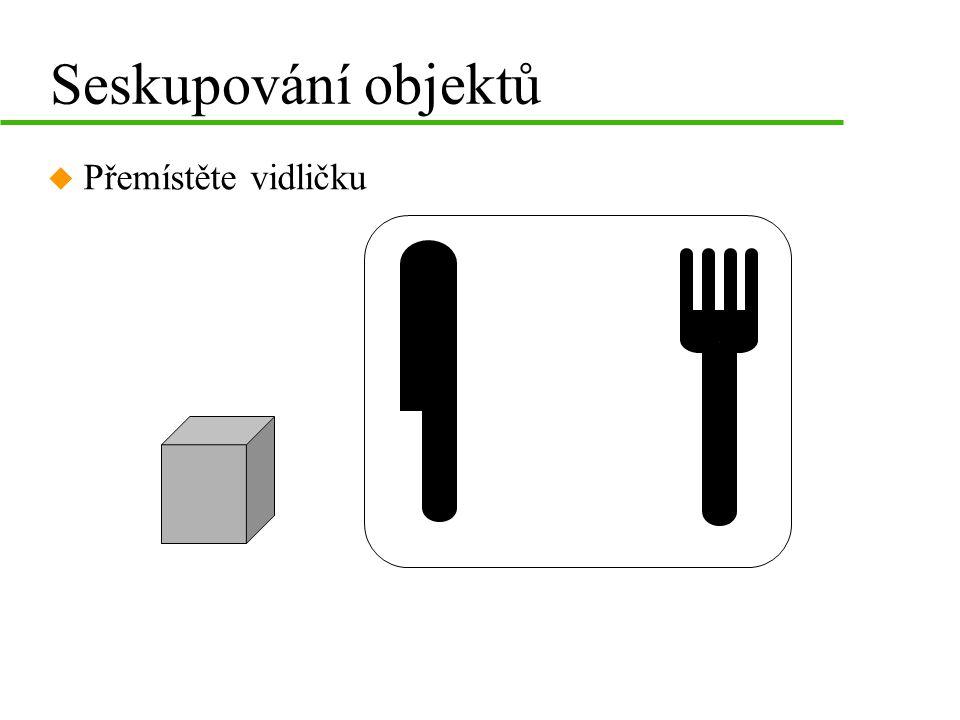 Zarovnávání objektů u vycentrujte 6-ti úhelník vůči snímku u zarovnejte objekty na spodní hranu