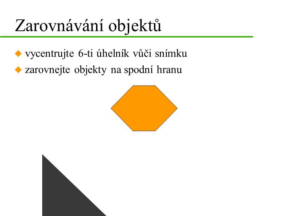 D B C Změna pořadí objektů u Seřaďte objekty podle abecedy vzestupně (překryv) A