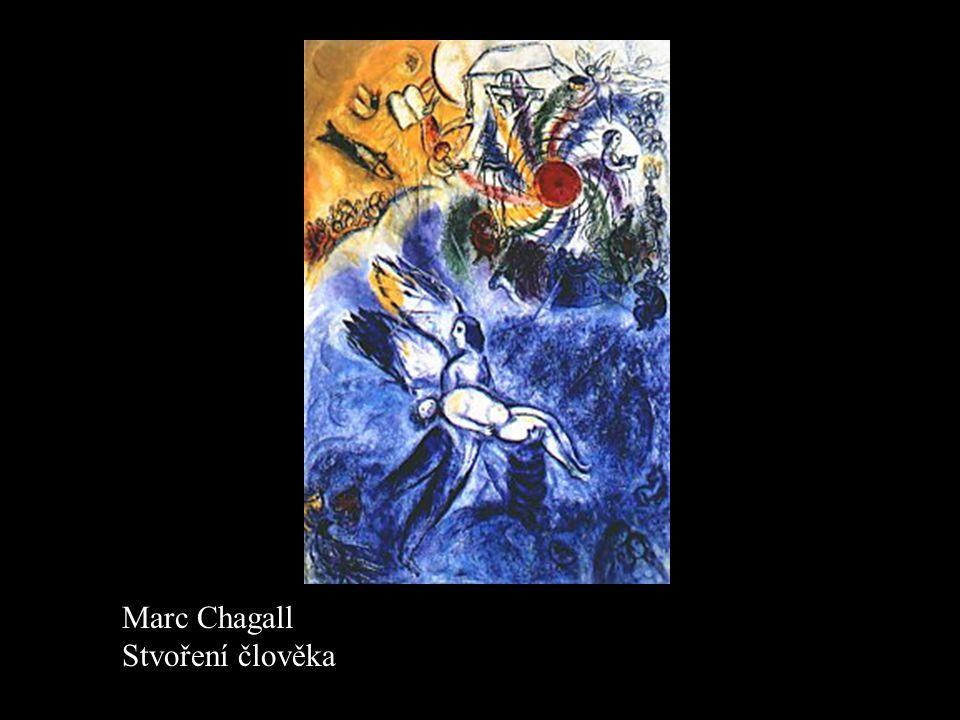 Marc Chagall Stvoření člověka