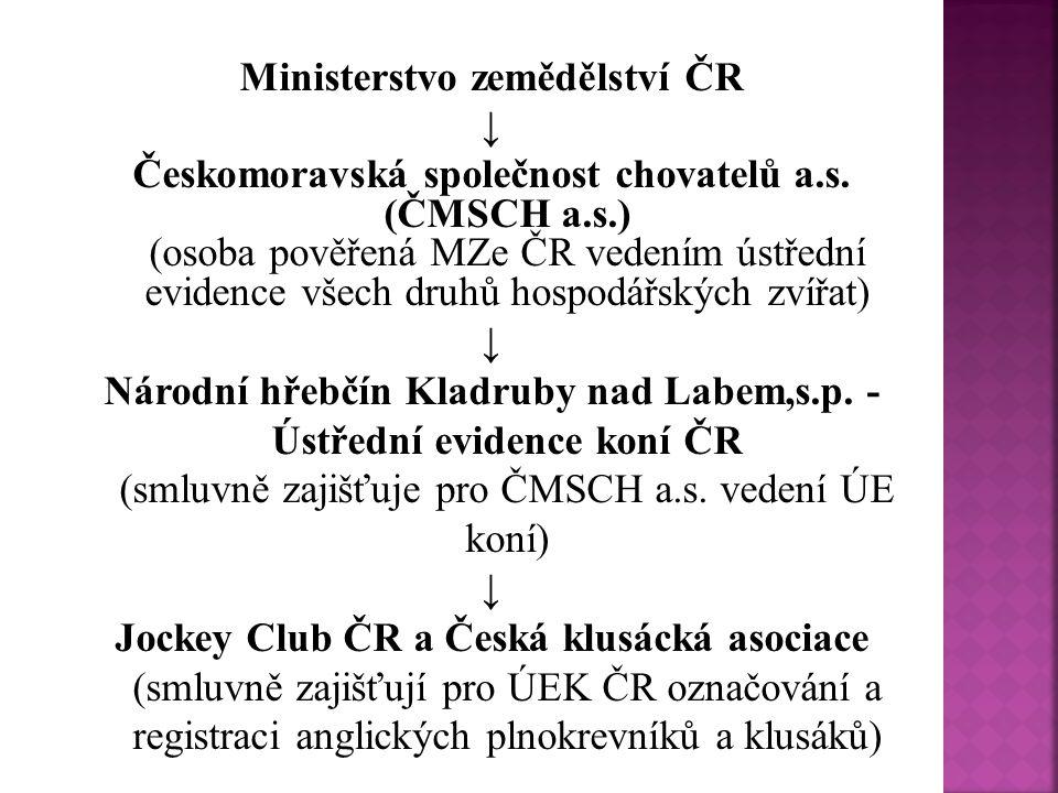  Povinnosti označování a evidenci koní vyplývá ze …  www.uek.cz