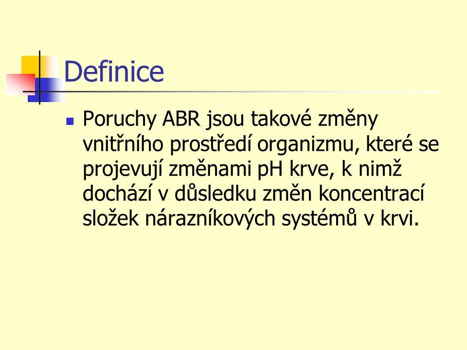 Léčba poruch ABR Alkalizující léky 8,4% NaHCO3 4,2% NaHCO3 Roztok THAM 3,64% ( tris aminometan ) Acidifikujicí léky 0,9% NaCl Amoniumchlorid Diuretiká – Diluran, Diamox
