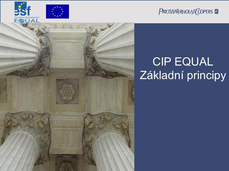 CIP EQUAL Princip Partnerství 26.2.2007 Peter Jurečka CIP EQUAL Základní principy