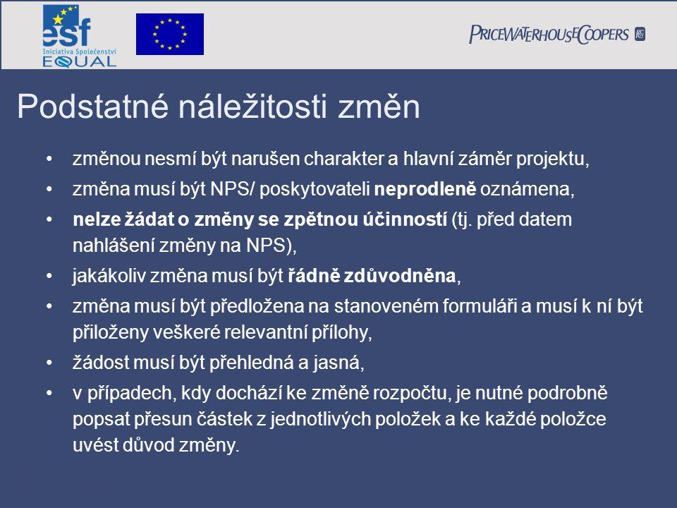 Formální stránka žádosti Zdůvodnění: Expert č.8 Jana Malá, lektor, byl nově zařazen do projektu z důvodu rozšíření plnění aktivity č.