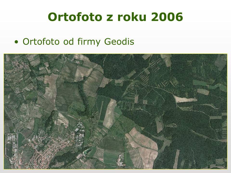 Ortofoto z roku 2006 Ortofoto od firmy Geodis