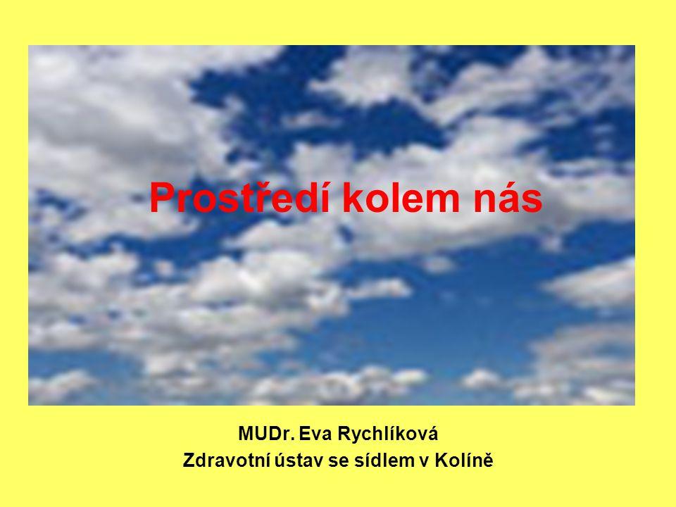 MUDr. Eva Rychlíková Zdravotní ústav se sídlem v Kolíně Prostředí kolem nás
