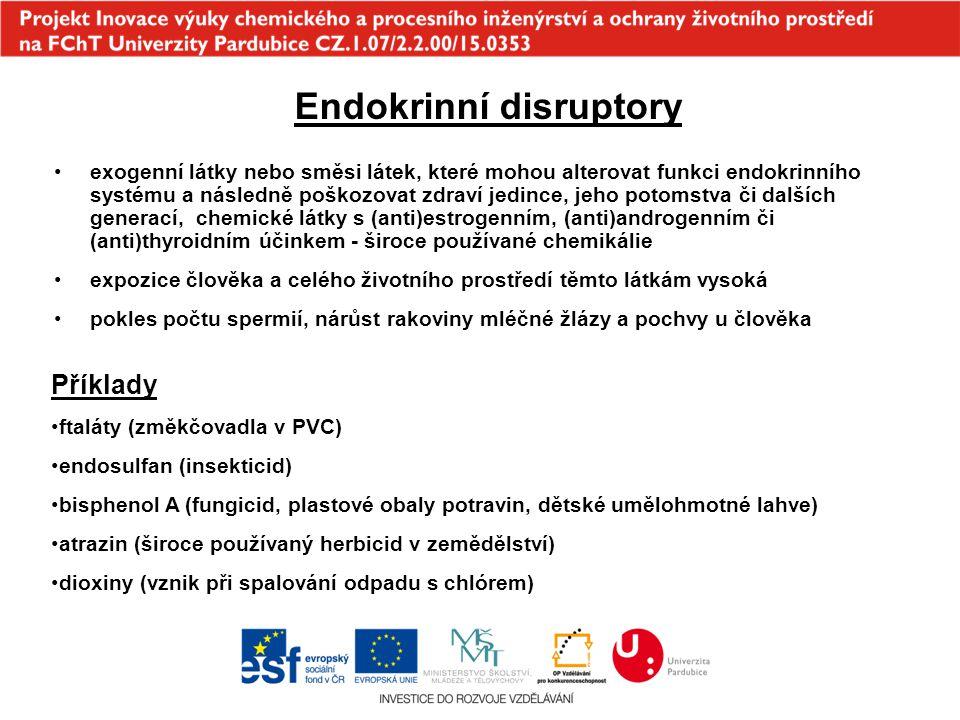 Endokrinní disruptory exogenní látky nebo směsi látek, které mohou alterovat funkci endokrinního systému a následně poškozovat zdraví jedince, jeho po