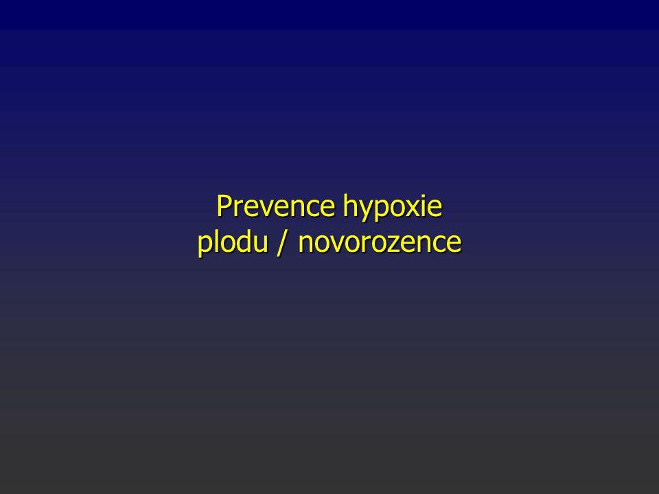 Prevence hypoxie plodu / novorozence