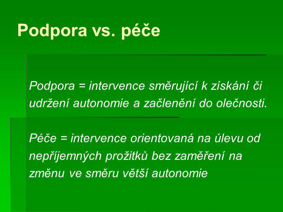 Orientační Fáze PP (Koenig & Volmer) Klíčovou formou je poradenský rozhovor.