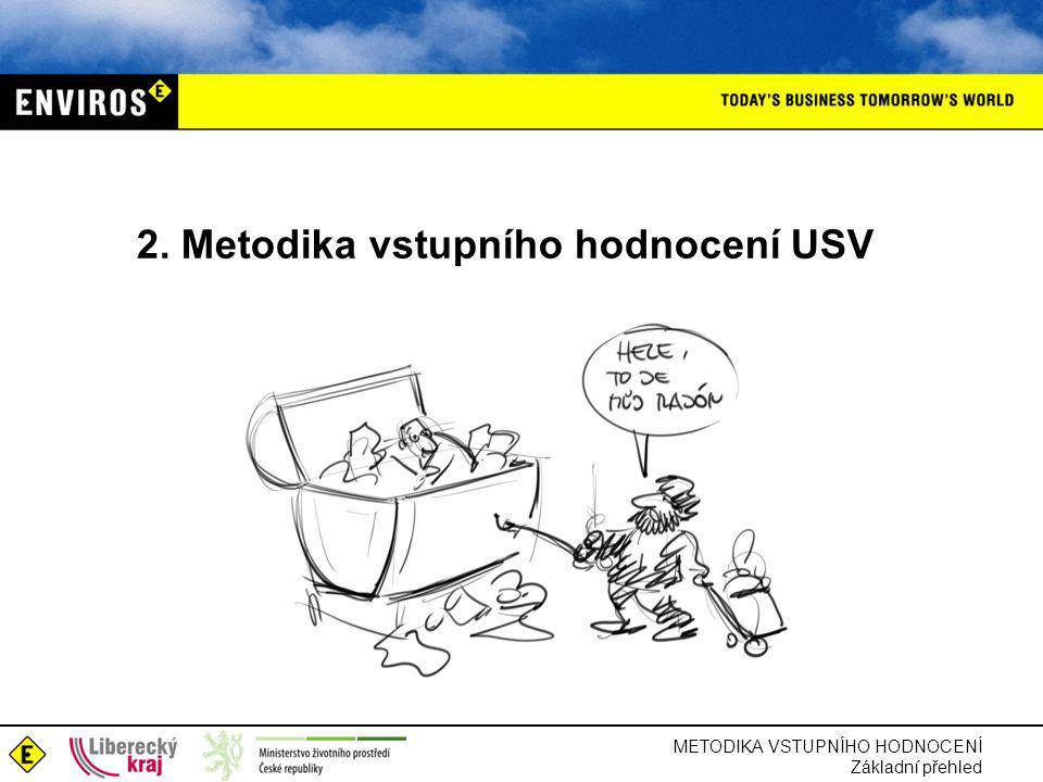 2. Metodika vstupního hodnocení USV METODIKA VSTUPNÍHO HODNOCENÍ Základní přehled