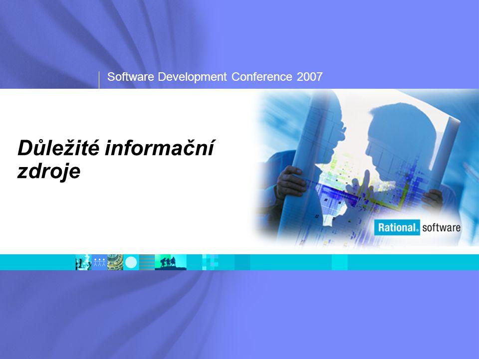 Software Development Conference 2007 Důležité informační zdroje