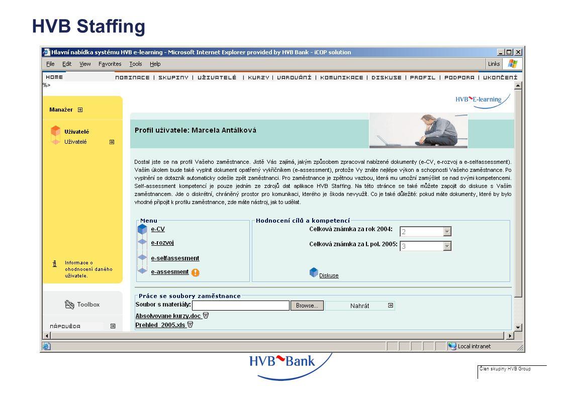 Člen skupiny HVB Group HVB Staffing