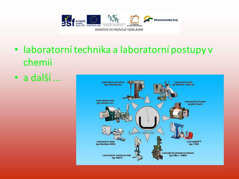 laboratorní technika a laboratorní postupy v chemii a další...
