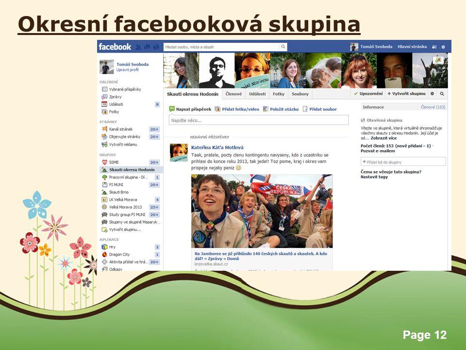 Page 12 Okresní facebooková skupina