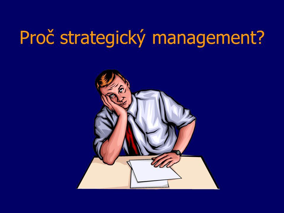 Proč strategický management