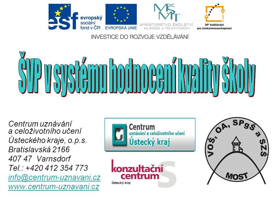 Kritéria hodnocení 1.Rovný přístup ke vzdělávání (Přijímání uchazečů v souladu s právními předpisy, přístup žáků se SVP, účinnost preventivních systémů ve škole) 2.