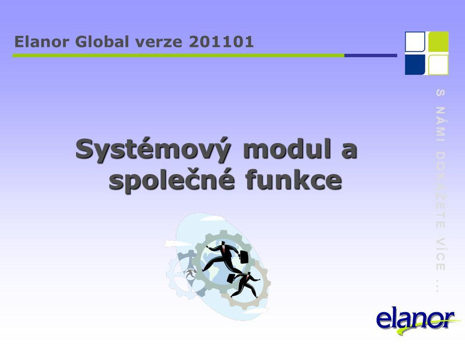 S NÁMI DOKÁŽETE VÍCE... Elanor Global verze 201101 Děkuji za pozornost.