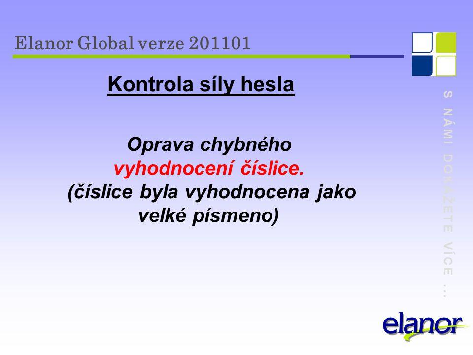 """S NÁMI DOKÁŽETE VÍCE...Elanor Global verze 201101 Interní pošta Přidán check box """"min adresáti ."""