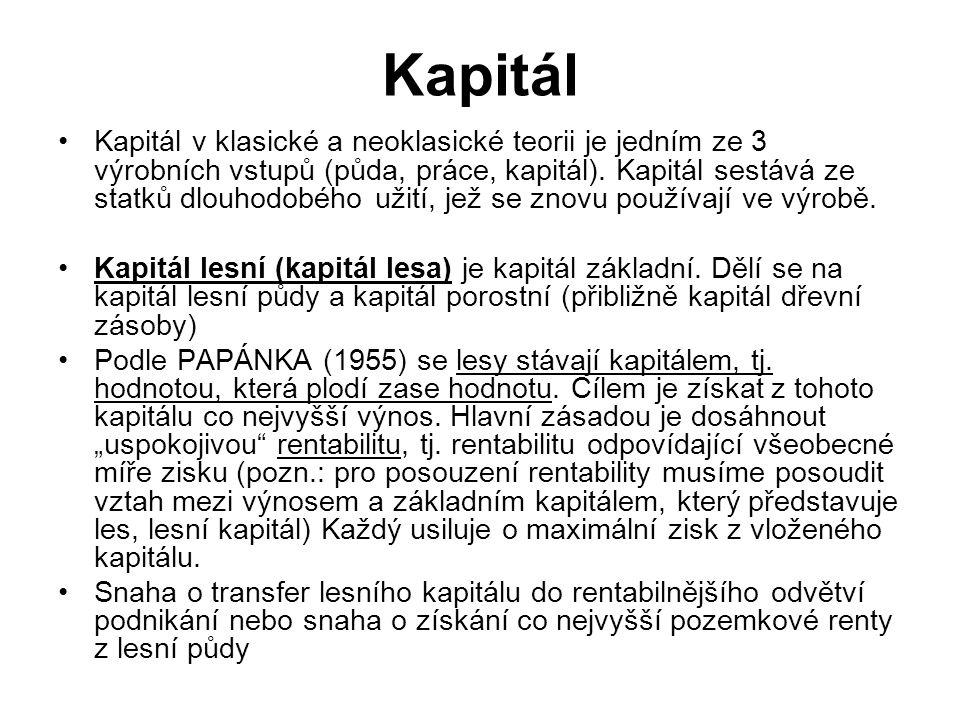 Kapitál Kapitál v klasické a neoklasické teorii je jedním ze 3 výrobních vstupů (půda, práce, kapitál). Kapitál sestává ze statků dlouhodobého užití,
