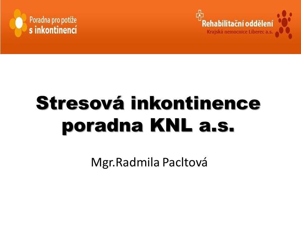 Stresová inkontinence poradna KNL a.s. Mgr.Radmila Pacltová