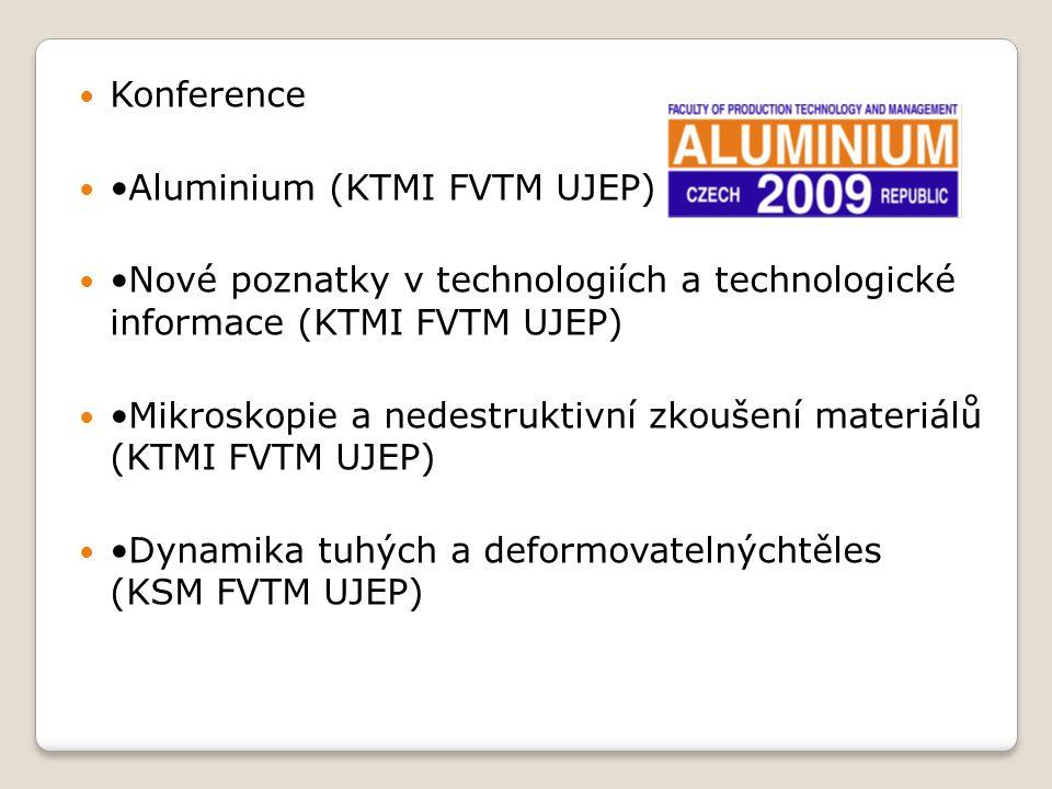 Konference Aluminium (KTMI FVTM UJEP) Nové poznatky v technologiích a technologické informace (KTMI FVTM UJEP) Mikroskopie a nedestruktivní zkoušení m