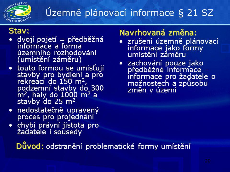 21 Veřejnoprávní smlouva nahrazující územní rozhodnutí § 78 odst.